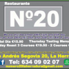 Nº20 Evening Menu News