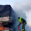 Lorry Catches Fire