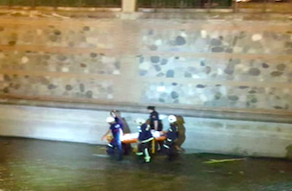 Couple Rescued from River