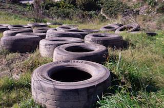 Lobres Illegal Tyre Dumping
