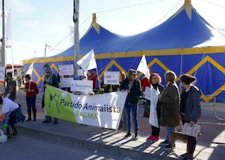 MOT Circus Protest
