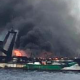 Trawler Sinks after Fire
