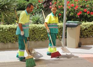 almuñécar rubbish collection workers
