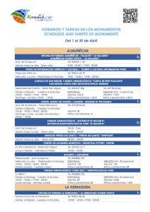ALM Spring Timetable