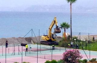SAL Salomar 2000 tennis court demolition
