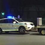 SAL Police Car being Towed