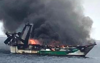 AXA Trawler on Fire