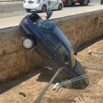 GRA Car Falls into Trench