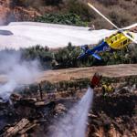 MOT Nacla Fire Helicopter July 2019