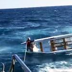 SPN Rescuing a man in a boat