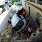 ALM Car Crashes onto Patio