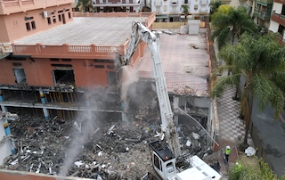 ALM Demolition Crane in Action
