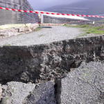 ECO Landslip Damages Greenhouse