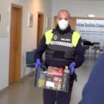 NRJ Police bring Food Parcel