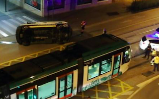 GRA Ambulance Collides with Tram