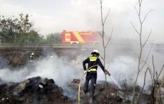 MOT Torrenueva fire next to N-340