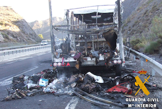 AND Burnt Out Bus A-7 Sorbas