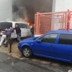 MOT car workshop Fire