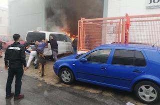 MOT car workshop Fire