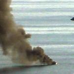 NRJ Burning Fishing Boat -original from 2013