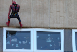 AND Spiderman Visits Kiddy Hospital