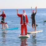 LHR Santa Arrives by Padel Surf