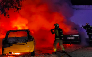 ALM Two Cars Burn JA21