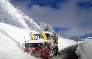 AND Snow Plough in Action