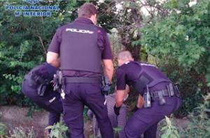 MOT Policia Nacional Rescue Eldery Man