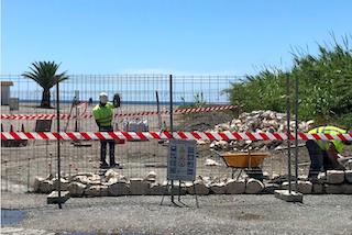 MOT Wall under Construction on Playa de Poniente