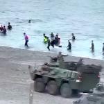 SPN Ceuta Invasion APCs on the Beach