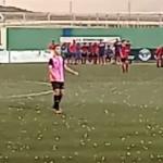 AXA Football Match Halted by Hailstones SP21